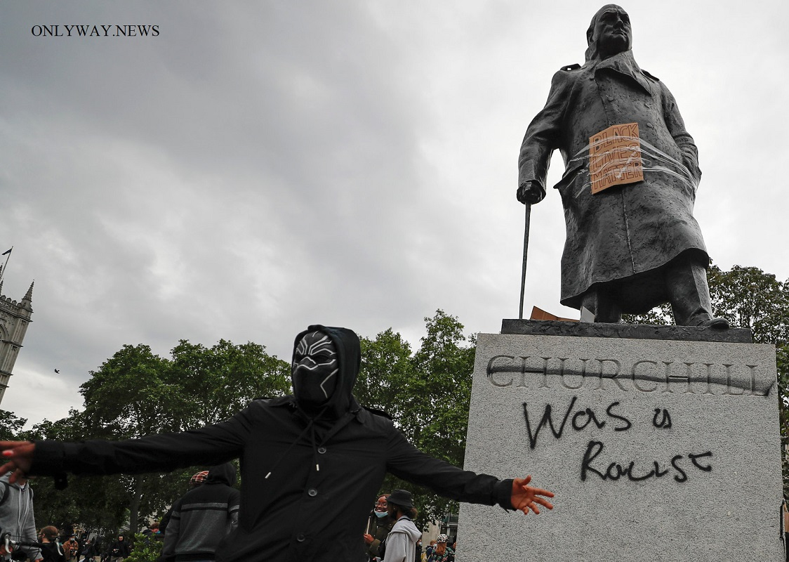 """Was racist"" at a monument to Winston Churchill in London"