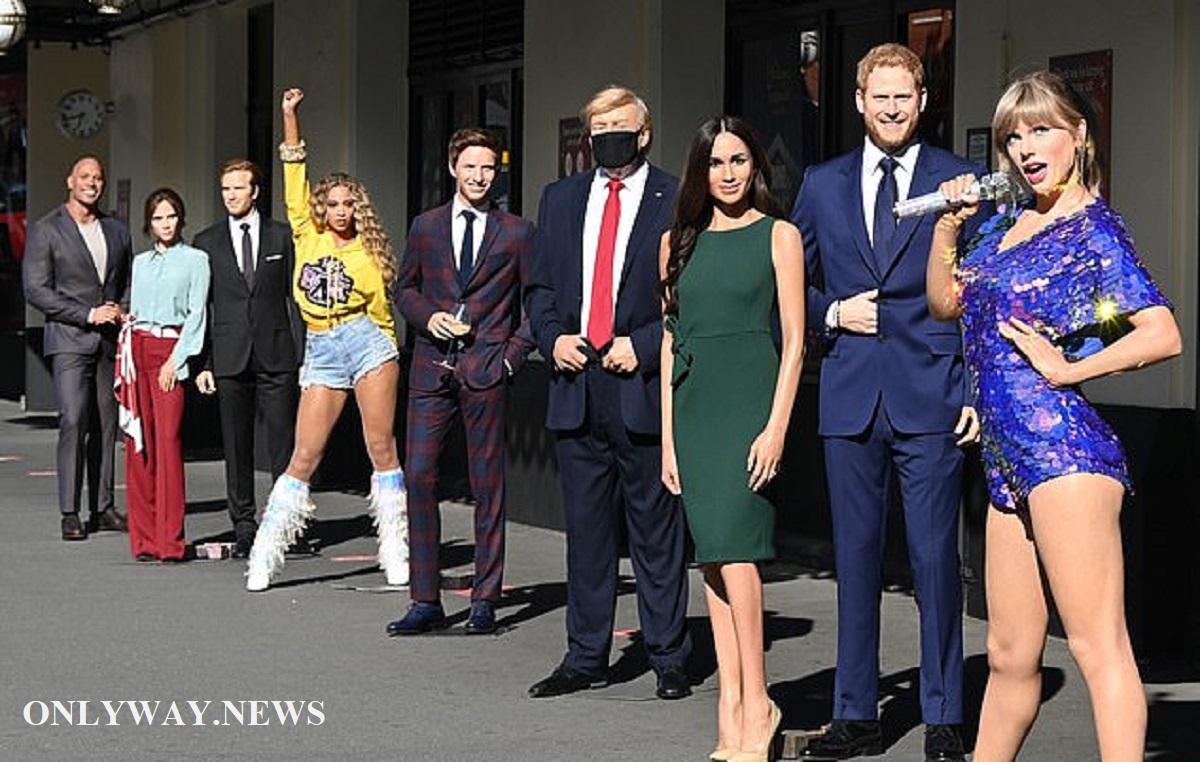 Восковые фигуры на улице Лондона