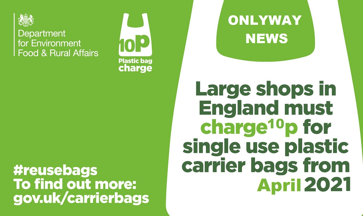 Cost of supermarket plastic bags set to double in move to further clean up the environment