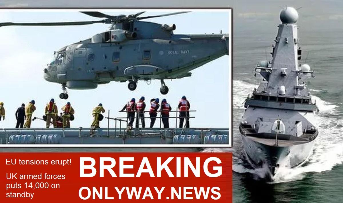 14000 военослужащих Великобритании находятся в готовом резерве, 4 морских патрульных корабля патрулируют Британские воды.