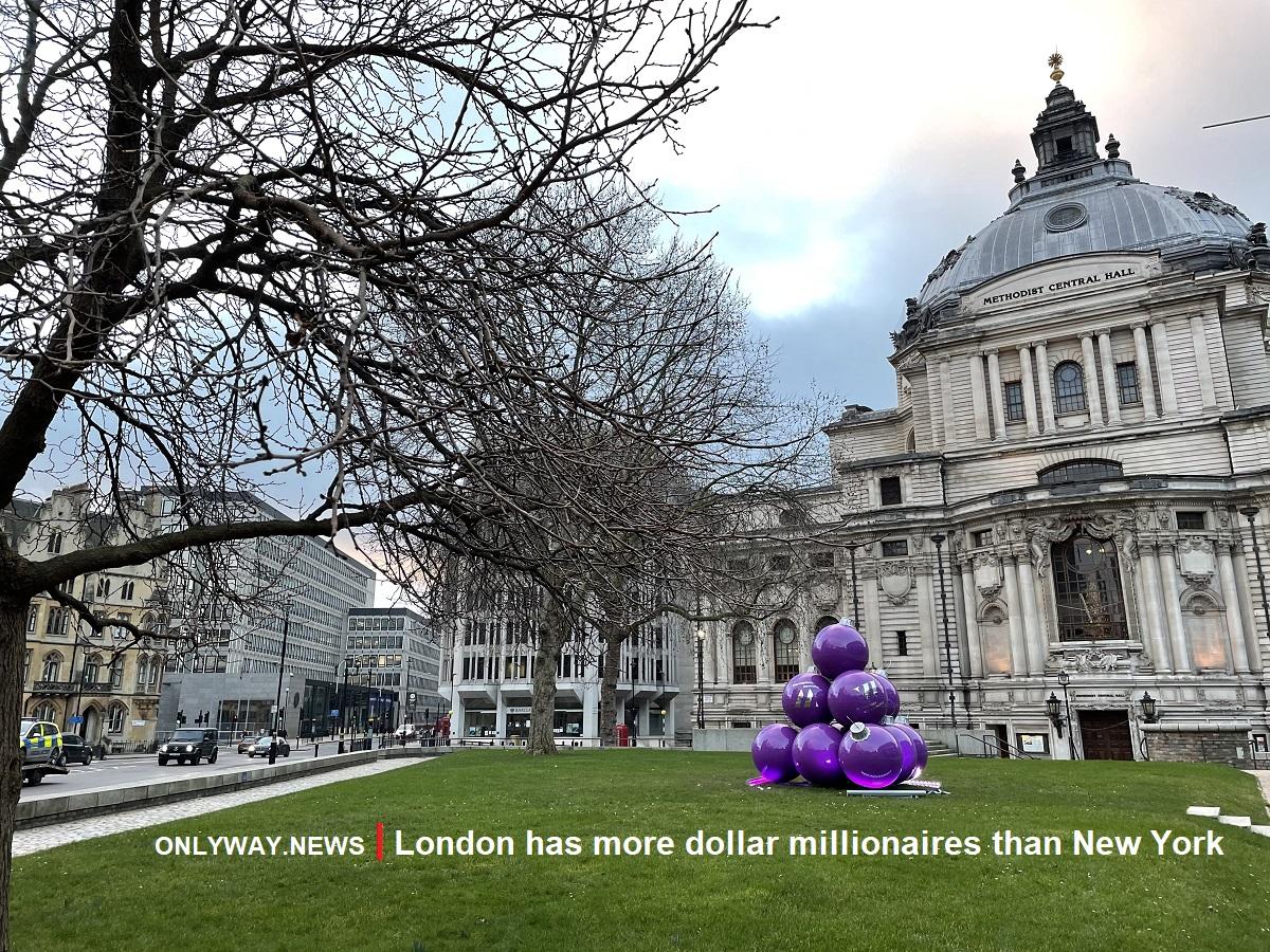 В Лондоне оказалось больше долларовых миллионеров, чем в Нью-Йорке