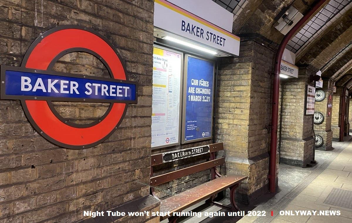 Ночное метро в Лондоне возобновит работу не раньше 2022 года